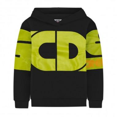 GCDS mini Black Hoodie - GCDS mini 25792-110-gcdsmini30
