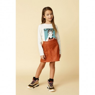 Dixie Kids Girls Ecoleather Skirt - Dixie gb24200g26-1286-dixie30