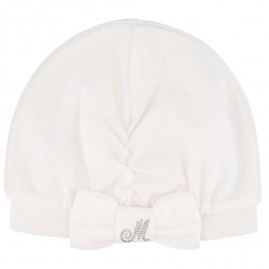 Monnalisa Cream Hat - Monnalisa 356011a4-monnalisa30