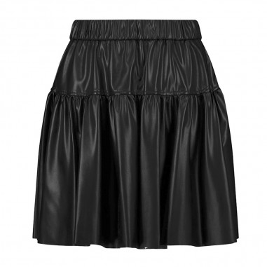 Monnalisa Lurex Ecoleather Skirt - Monnalisa 196705-monnalisa30