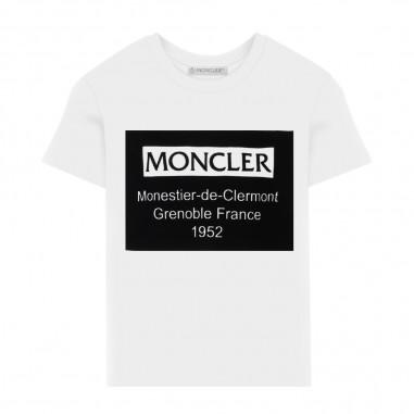 Moncler T-Shirt Bianca - Moncler 8c73120-83092-001-moncler30