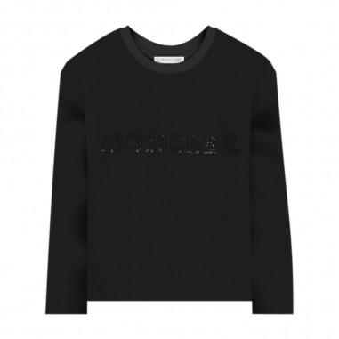 Moncler T-Shirt Manica Lunga Nera - Moncler 8d71410-87275-999-moncler30