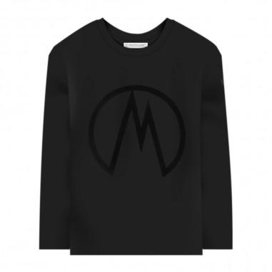 Moncler T-Shirt Manica Lunga Nera - Moncler 8d70620-83092-999-moncler30