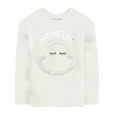 Moncler Cream Long Sleeve T-Shirt - Moncler 8d71210-8392e-034-moncler30