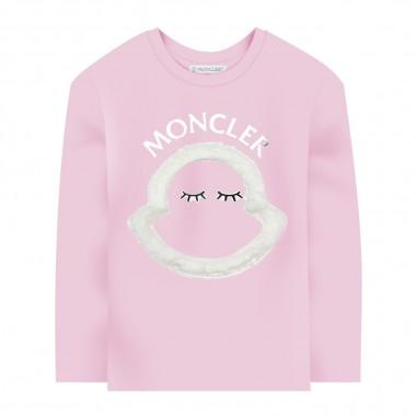 Moncler Pink Long Sleeve T-Shirt - Moncler 8d71210-8392e-503-moncler30