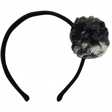 Piccola Ludo Girls Black Hairband - Piccola Ludo pierrot-piccolaludo30