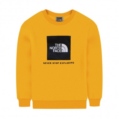 The North Face Kids Yellow Sweatshirt - The North Face Kids nf0a37fy56p1-56p1