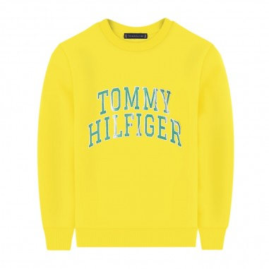 Tommy Hilfiger Kids Felpa Gialla - Tommy Hilfiger Kids kb0kb06143