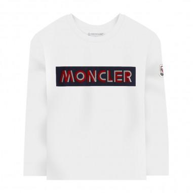 Moncler White T-Shirt - Moncler 8d70320-87275-001-moncler30