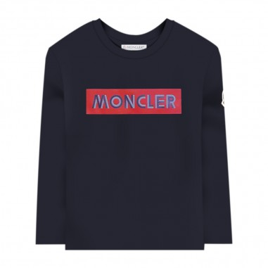 Moncler Blue T-Shirt - Moncler 8d70320-87275-778-moncler30