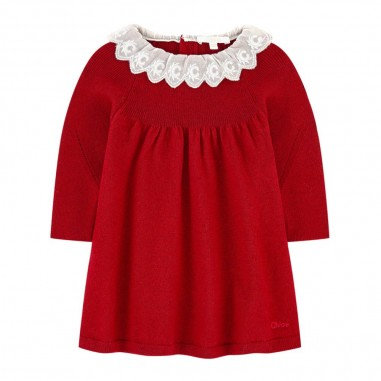 Chloé Kids Bordeaux Dress - Chloé Kids c02274-bordeaux-chloekids30