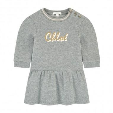 Chloé Kids Grey Dress - Chloé Kids c02272-Grigio-chloekids30
