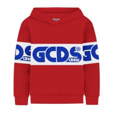 GCDS mini Red Hoodie - GCDS mini 25762-040-gcdsmini30