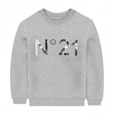 N.21 Kids White Logo Sweatshirt - N.21 Kids n214b1-n21kids30
