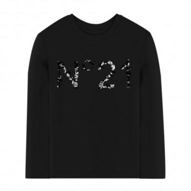 N.21 Kids T-Shirt Nera - N.21 Kids n214ap-n21kids30