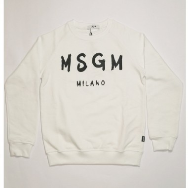 MSGM White Sweatshirt - MSGM ms026831-bianco-msgm21