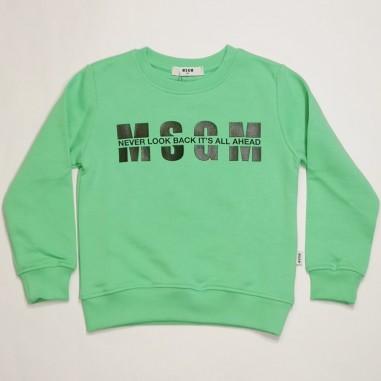 MSGM Green Sweatshirt - MSGM ms026818-verde-msgm21