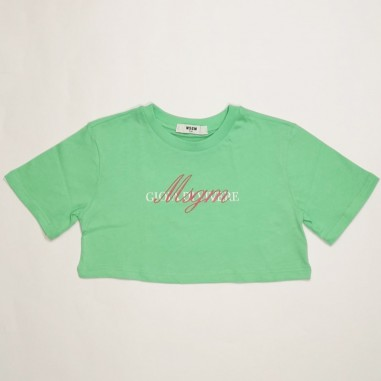MSGM Green T-Shirt - MSGM ms026836-verde-msgm21