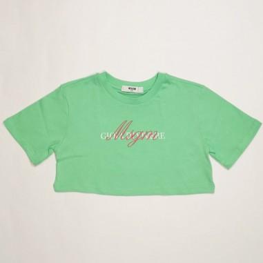 MSGM T-Shirt Bambina Verde - MSGM ms026836-verde-msgm21