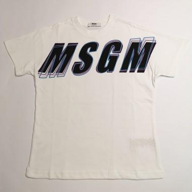 MSGM Boys White T-Shirt - MSGM ms027629-msgm21