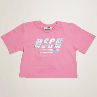 MSGM Cropped T-Shirt - MSGM ms027072-msgm21
