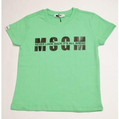 MSGM Green T-Shirt - MSGM ms026817-verde-msgm21
