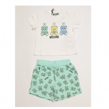 Moschino Kids Baby Outfit - Moschino Kids mug00d-verde-moschinokids21
