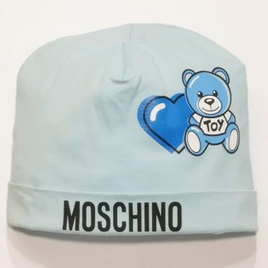 Moschino Kids Cuffia Celeste - Moschino Kids mux03g-sky-moschinokids21