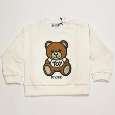 Moschino Kids White Sweatshirt - Moschino Kids muf03i-bianco-moschinokids21