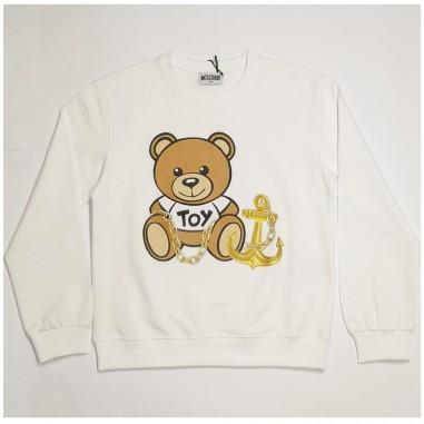 Moschino Kids White Sweatshirt - Moschino Kids hdf030-bianco-moschinokids21