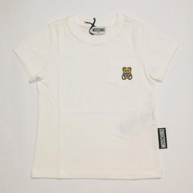 Moschino Kids White T-Shirt - Moschino Kids hum02z-bianco-moschinokids21