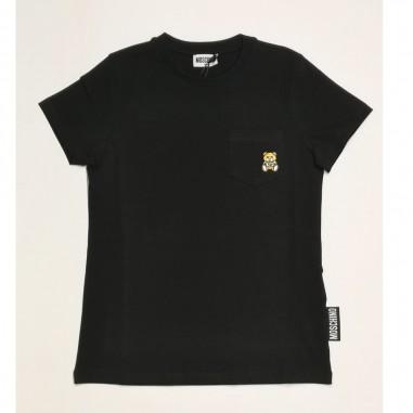 Moschino Kids Black T-Shirt - Moschino Kids hum02z-nero-moschinokids21