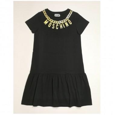 Moschino Kids Black Dress - Moschino Kids hdv0ah-nero-moschinokids21