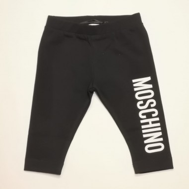 Moschino Kids Leggings Nero - Moschino Kids hlp03u-moschinokids21