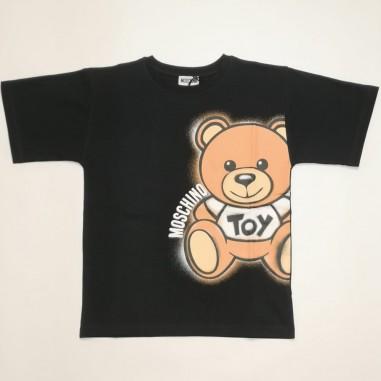 Moschino Kids Black Maxi T-Shirt - Moschino Kids hqm02x-nero-moschinokids21