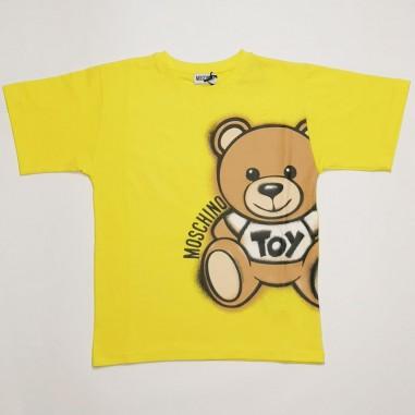 Moschino Kids Maxi T-Shirt Orsetto - Moschino Kids hqm02x-cyber-moschinokids21