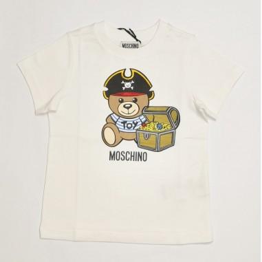 Moschino Kids T-Shirt Bianca - Moschino Kids htm02s-bianco-moschinokids21