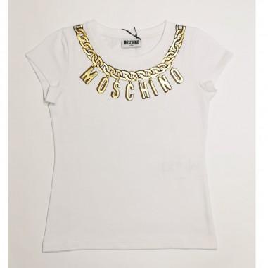 Moschino Kids T-Shirt Bianca - Moschino Kids h3m02o-bianco-moschinokids21