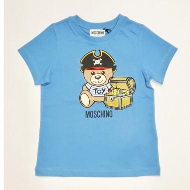 Moschino Kids Blue T-Shirt - Moschino Kids htm02s-blu-moschinokids21