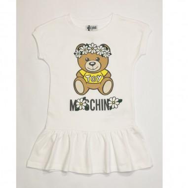 Moschino Kids Abito Bianco - Moschino Kids hbv07e-moschinokids21