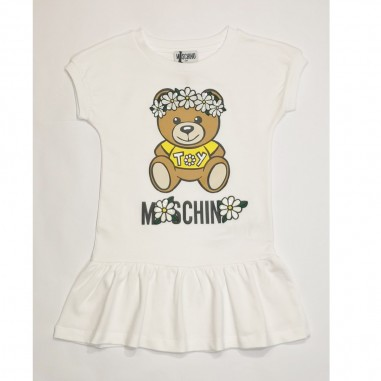 Moschino Kids White Dress - Moschino Kids hbv07e-moschinokids21