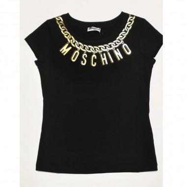 Moschino Kids Black T-Shirt - Moschino Kids h3m02o-nero-moschinokids21