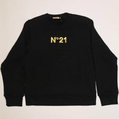 N.21 Kids Black Sweatshirt - N.21 Kids n21077-n21kids21
