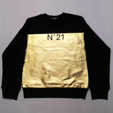 N.21 Kids Golden Sweatshirt - N.21 Kids n21078-n21kids21