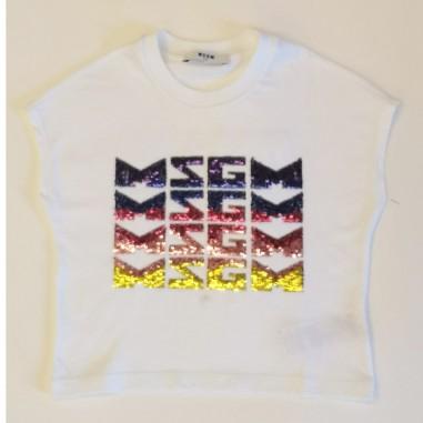MSGM White T-Shirt - MSGM ms026894-bianco-msgm21
