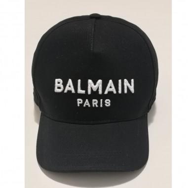Balmain Kids Black Cap - Balmain 6m0787-mx560-1-nero-balmain21