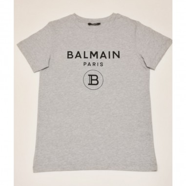 Balmain Kids Grey Logo T-Shirt - Balmain 6m8701-mx030-2-grigio-balmain21