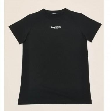Balmain Kids T-Shirt Nera - Balmain 6o8561-ob690-2-nero-balmain21
