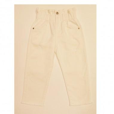 Dixie Kids Pantalone Bianco Vita Alta - Dixie ph15132g30-dixie21