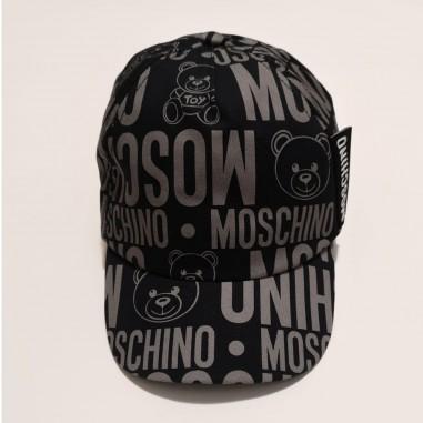 Moschino Kids Black Cap - Moschino Kids h8x001-nero-moschinokids21